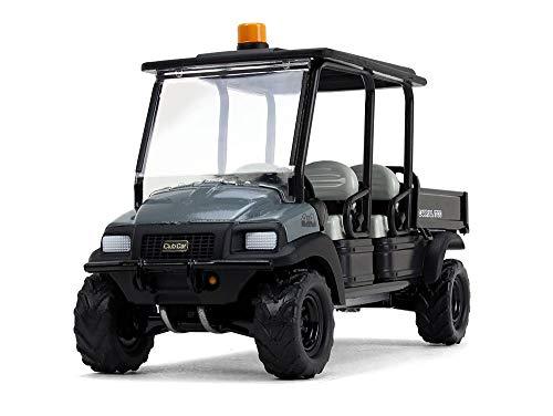 First Gear Club Car Carryall 1700 4x4 con caja inclinable gris oscuro/negro modelo 1/34 fundido a troquel