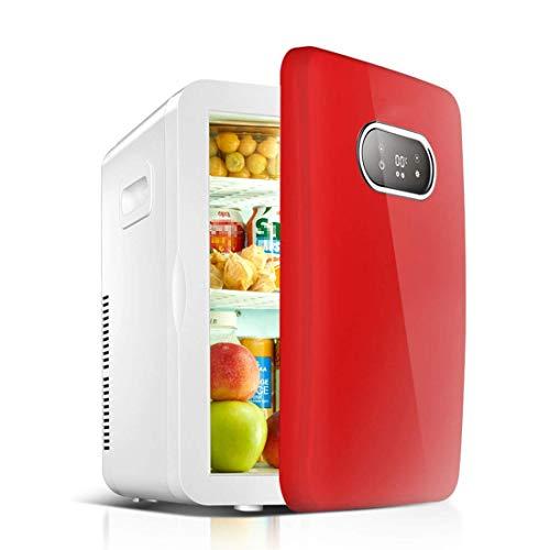 Refrigerador de viaje para automóvil de 20 l, mini refrigerador portátil para automóvil con pantalla LCD, entrada dual DC12V + AC220V, frío y calor para automóvil y familia, camping, viajes, picnic al