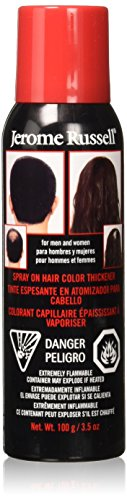 Jerome Russell Spray on Hair Color Thickener, Medium Brown 3.5 oz