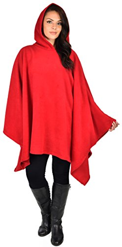 Dare2B Kapuzenpullover für Damen, Poncho-Stil, Fleece, für kaltes Wetter -  Rot -  Einheitsgröße