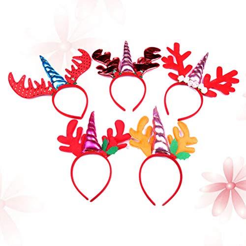 Lurrose 5pcs kinderen Unicorn hoofdband handgemaakte dierlijke cartoon kostuum accessoires haarstrik voor feest