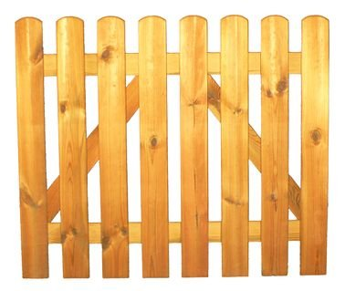 StaketenTür 'Standard' 100x85/85 cm - gerade – kdi / V2A Edelstahl Schrauben verschraubt - aus frischem Holz gehobelt – gerade Ausführung - kesseldruckimprägniert