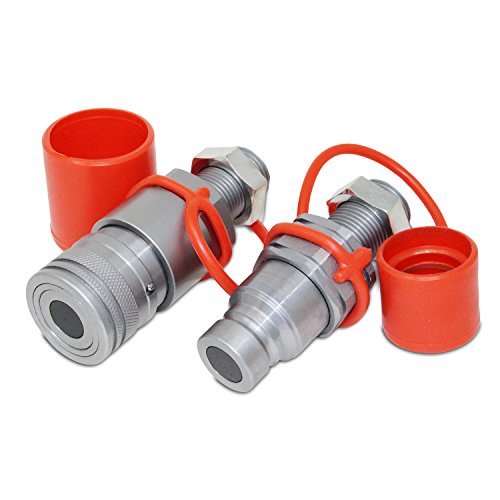 Flat Face Hydraulic Quick Connect Coupler, 5/8 ORFS Bulkhead Skid Steer Mount