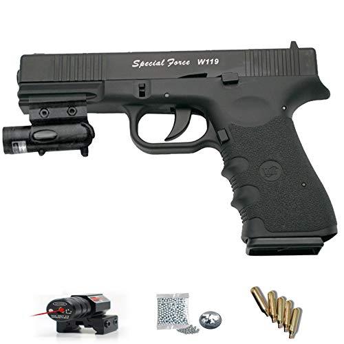 Special Force W119 WG blowback- Pack Pistola de Aire comprimido (CO2) y balines de Acero (perdigones BBS) Calibre 4.5mm. Réplica Tipo Glock <3,5J