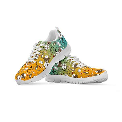 Agroupdream Enfermera Oso Zapatos de Mujer para Mujeres Transpirables Caminar Zapatos vulcanizados...