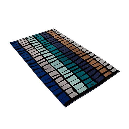 Vossen Strandtuch Liana Check Reflex Blue, 100 x 180 cm