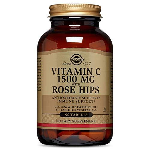 Solgar Vitamina C con escaramujo 1500 mg (1,5 gramos) Comprimidos - Envase de 90