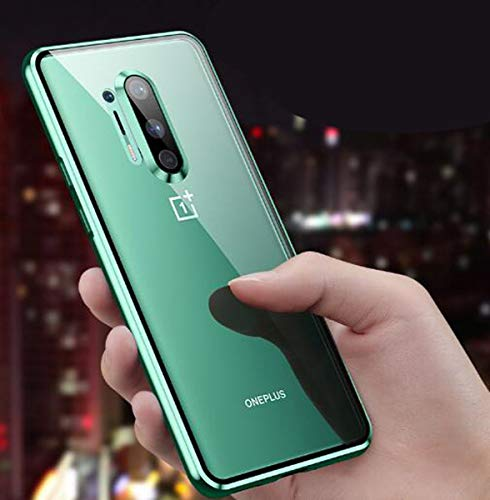 Voor One plus 8 Zaak, Double HD glazen kast Volledige Protective Cover Shockproof Magnetic Kristallen behuizing, voor One plus 8Pro