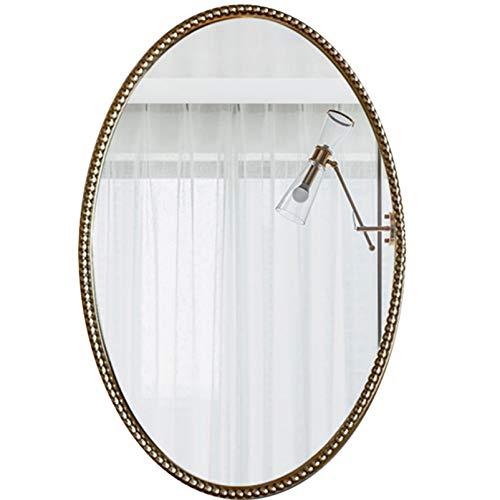LZPQ Espejo Ovalado Espejo De Pared, Espejo De Decoración De Entrada para Sala De Estar, Espejo De Tocador para Dormitorio De Baño, Colgante Horizontal O Vertical Y