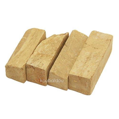 弘梅堂 書道用品 「小硯用 天然 泥砥石 4個入」