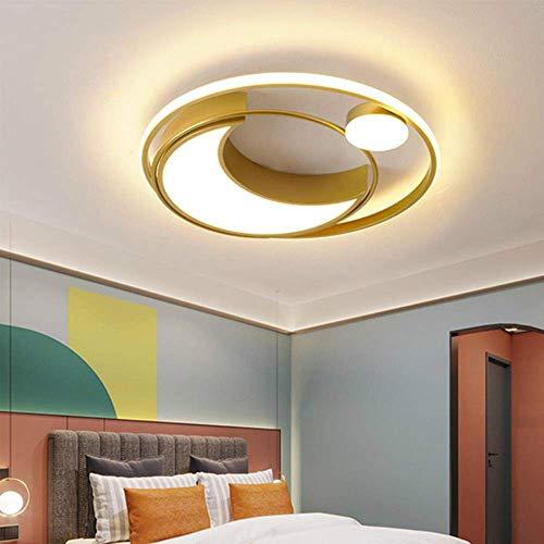 MJK Novedad Lámpara de techo, Sala de estar montada en la superficie Sala de estudio Dormitorio Lámpara de araña LED moderna Vestíbulo de salón dorado o negro Lámpara de araña montada en la superfici