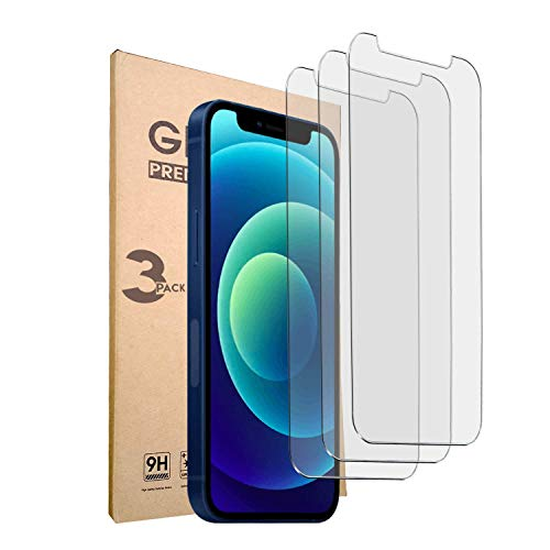 """iPhone 12 Mini Screen Protector - Tempered Glass Film Compatible with Apple iphone 12 5.4"""" Clear Cell Phone Kit - 3 Pack by masehome"""