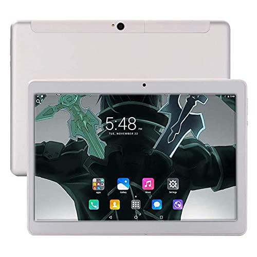 Tableta Inteligente Portátil 4G HD, 10.1 Pulgadas 2K IPS Pantalla Táctil Grande 6000mAh Batería 3G + 32G Memoria 5MP + 13MP Cámara Dual Navegación GPS
