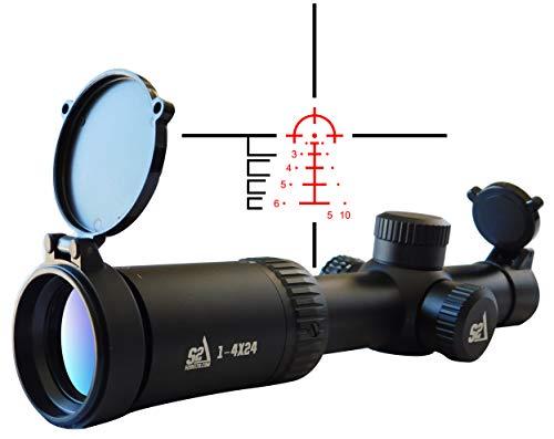 Price comparison product image S2Delta 1-4X24 Carbine Scope,  Red Dot Scope,  Illuminated 5.56 BDC Reticle,  30mm Main Tube,  SFP,  Capped Turrets