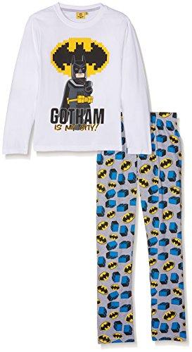 LEGO Batman 161994 Conjuntos de Pijama, Blanc (White/Greymelange), 8 años para Niños