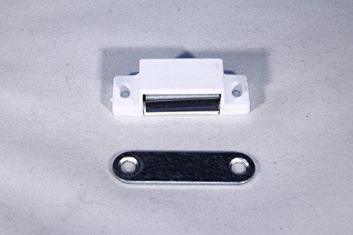 DS-Computerwelt 2 Magnetschnäpper weiß 6 kg Haltekraft inkl. 8 Schrauben