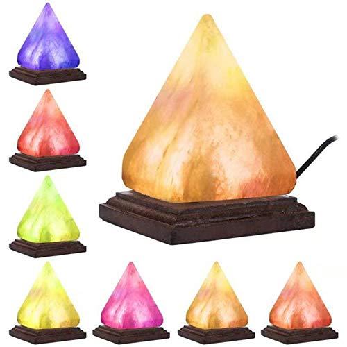 Piramide natuurlijke Himalaya luchtreiniger zoutlamp ionische bergkristal nachtlampjes