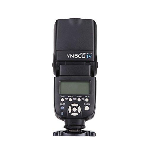 Yongnuo YN560 IV 2.4GHz Flash Speedlite YN560 IV con Transceptor de Apoyo YN560-TX, RF- 603 (I/II), RF- 602 para Canon Nikon Pentax Panasonic + WINGONEER Difusor
