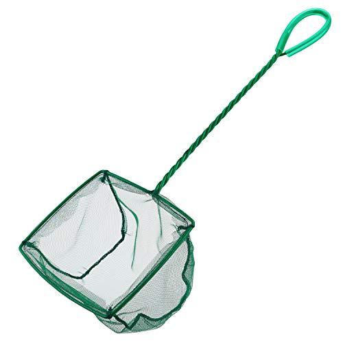 Uniclife 15cm Aquarium Fischnetz Fischfangnetze mit Kunststoffgriff - Grün