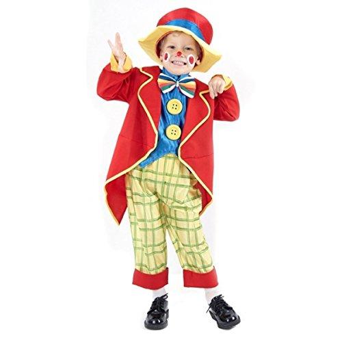 DEGUISE TOI Déguisement Clown coloré garçon - Coloré - XS 3-4 Ans (92-104 cm)