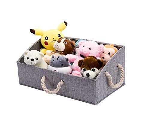 HFTD Caja de almacenamiento de tela plegable y práctica caja de organización trapezoidal para almacenamiento, utilizada para estantes, armarios, juguetes de bebé, pañales (gris)