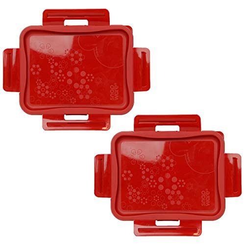 Snapware 7211R-PC 6 Cup Poppy Red Lids Compatible with Total Solutions Containers (Containers Sold Separately) - 2 Pack