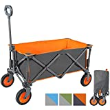 Portal Outdoors Unisex's Alf Folding Trolley Wagon, Strong Study Frame, 100kg Max Load, Perfect for Festivals/Camping, Orange, One Size