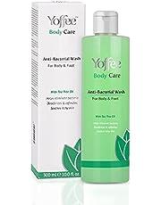 Yoffee Care Antibacteriële Body Wash, met Natuurlijke Tea Tree & Kokosolie, Voorkomt en elimineert bacteriën, Hydrateert en kalmeert de huid en elimineert slechte geuren, voor lichaam en voeten, Veganistisch, 300 ml.