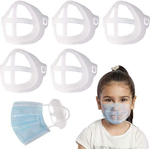 5 Stück 3D-Maskenhalter für Gesichtsmaske, Lippenstift, Kissenhalter innen für Masken, erhöht den Atemraum, hilft bei sanfter Atmung