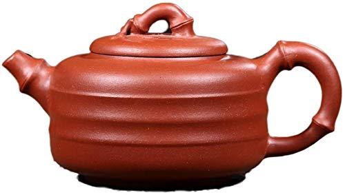 Hierro Fundido Establece Hecho a Mano electrónico del multímetro de Yixing Mina Original Claro Cemento Línea de bambú Pot Craftsman Ni Xin (Color: Claro Cemento) la decoración del hogar Pre