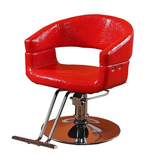 Silla peluqueria,Sillón de salón Sillón de peluquero hidráulico Corte de cabello Equipo de peinado de salón de spa de belleza,ajustable en altura,negro,rojo oscuro,azul,marrón claro,rojo negro,rojo