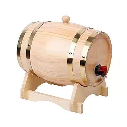 Barril De Roble, 1,5 / 3L De La Vendimia De Madera del Barril De Vino, Mini Home Brew Barril De Cerveza Grifo Dispensador (Color : 1.5L Wood Color)