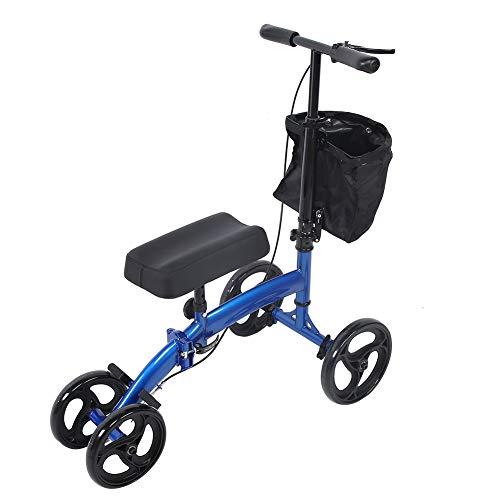 lyrlody- Knie Walker, 300 lbs Knie Gehhilfe Knie-Rollator Krückenalternative Lenkbarer Knie Scooter mit Einer Schnellverschlussschnalle für Person 4ft 9in - 6ft 6in