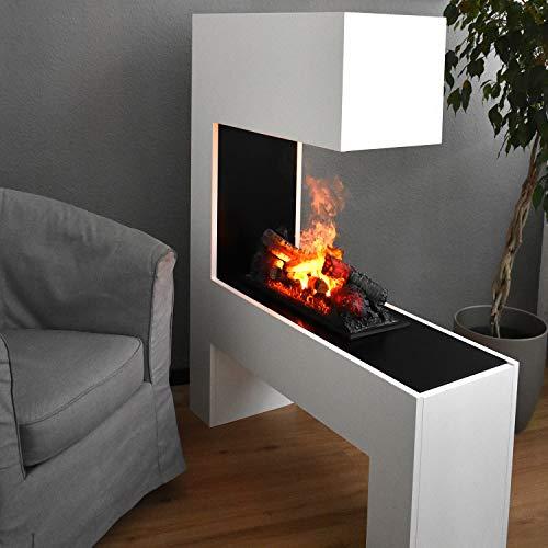 Elektrokamin Raumteiler - GLOW FIRE Opti Myst Mozart, Wasserdampf Feuer, elektrischer Standkamin mit Fernbedienung, regelbare Flammenstärke