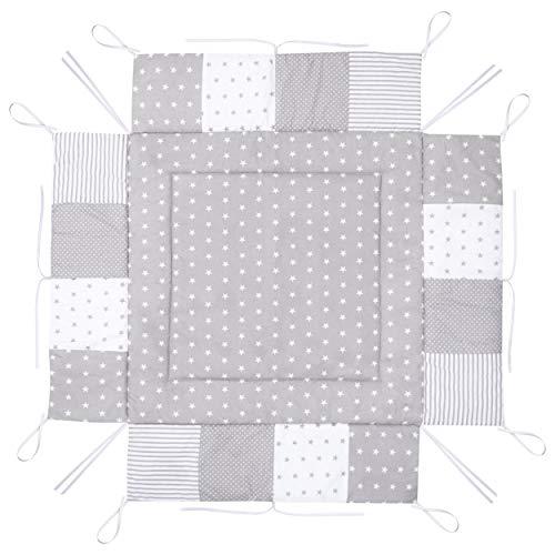 Amilian LAU02 Tapis de parc en coton pour parc 100 x 100 cm