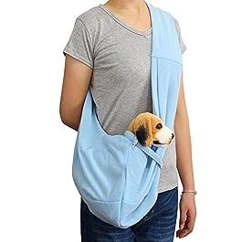Glomixs Pet Dog Cat Travel Sling Carrier Bag Travel Pouch Shoulder Carry Handbag,Small Dog Cat Sling Carrier Bag Travel Tote Soft Comfortable Puppy Pouch Shoulder Carry Tote Handbag