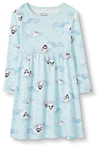 Moon and Back Baby Toddler playwear-dresses, Pinguin-Aufdruck, 2 Jahre (82-87 CM)
