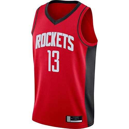 MUDAN 2020/21 Swingman Jersey Harden Bordado Houston Custom Rockets Traning Jersey Rojo -#13 LBJ Baloncesto Jersey Icono Edition-L