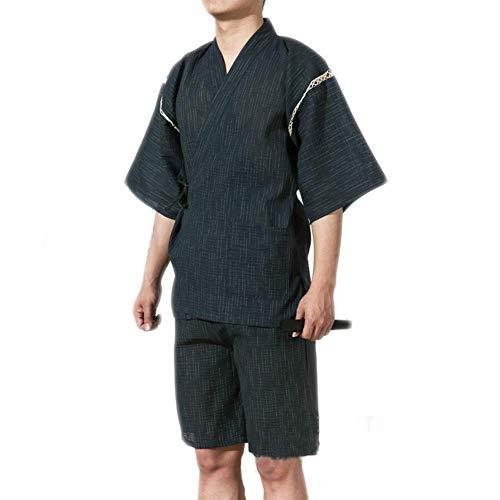 ZLININ Y-Longhair Jinbei Männer japanische Art Morgenmantel Kimono Pyjamas Anzug...