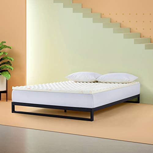 Zinus 1.25 Inch Swirl Copper Cooling Memory Foam Mattress Topper/Antimicrobial & Odor Resistant/Airflow Design, Twin