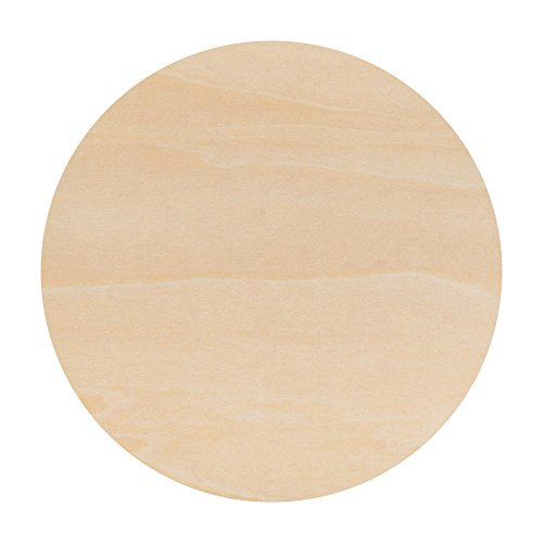 Wood Plywood Circles 6 inch, 1/8 Inch Thick, Round Wood Cutouts, Pack of 5 Baltic Birch Unfinished Wood Plywood Circles For Crafts, By Woodpeckers