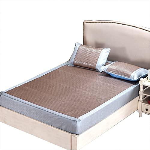 DXMRWJ Almohadilla para Dormir de Verano Fresca y Plegable Almohadilla de Aire Acondicionado Suave Seda de Hielo Espesa de Tres Piezas (Color: C, Tamaño: Cama de 2.0 * 2.2m)