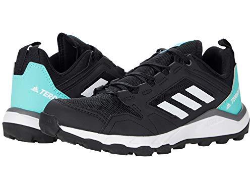 adidas Originals Women's Terrex Agravic TR Trail Running Shoe, Black/Crystal White/Acid Mint, 7.5