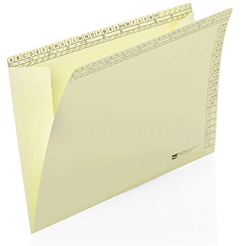 Classei Orga-Mappen Material: Natronkraft 130 g/qm; Farbe: hellgelb,VE: 50, auch als Dokumentenmappe verwendbar