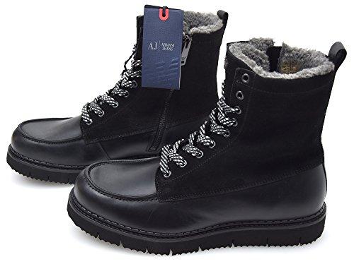 Armani Jeans Man Enkellaarsje Zwart Code 6A414