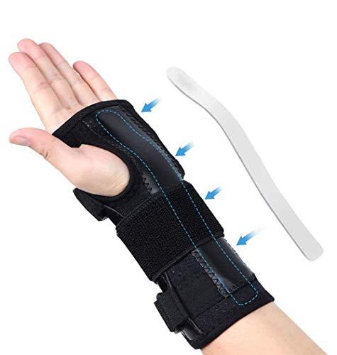 Férula de soporte de la muñeca para el síndrome del túnel carpiano, el protector de mano para la izquierda y la derecha, la pulsera de muñeca ajustable para la artritis, la tendinitis, los esguinces,