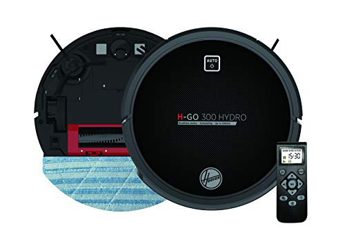 Hoover HGO320H Aspirateur Robot Nettoyeur et Laveur 2 en 1 Noir avec Graphisme