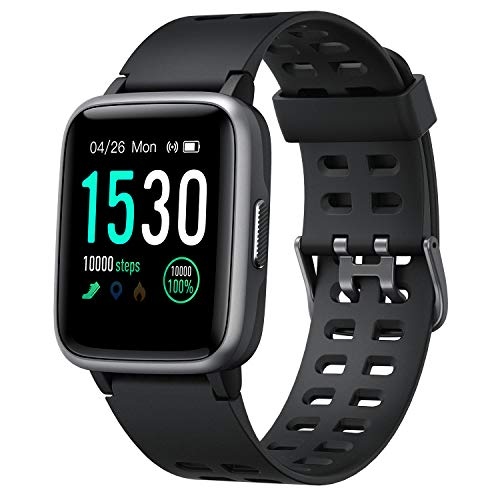 Smart Watch for Android Phone & iPhone (Black) -$18.45(55% Off)