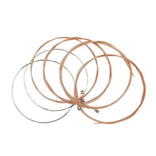 PULABO Chitarra String Chitarra Acustica Sostituzione Antiruggine Acciaio Inox Avvolgitore Chitarre Accessori 6 Pz/Set...