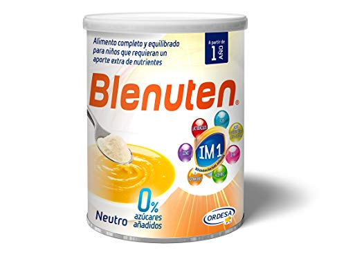 Blenuten Neutro 0% Azúcar: alimento completo y equilibrado para niños que requieran un aporte extra de nutrientes – 400g